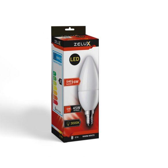 ZELUX C37 6W E14 LED lámpa 3000K