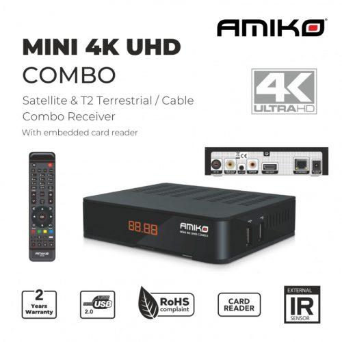 Amiko Mini 4k UHD Combo S2x T2/C