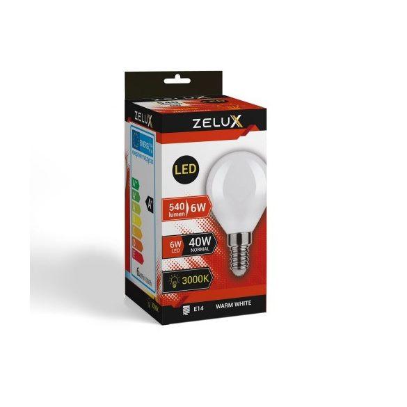 ZELUX G45 6W E14 LED lámpa 3000K