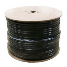 Koax kábel RG6 Trishield Fekete